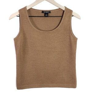 St. John Knit Brown Tank Top SZ P